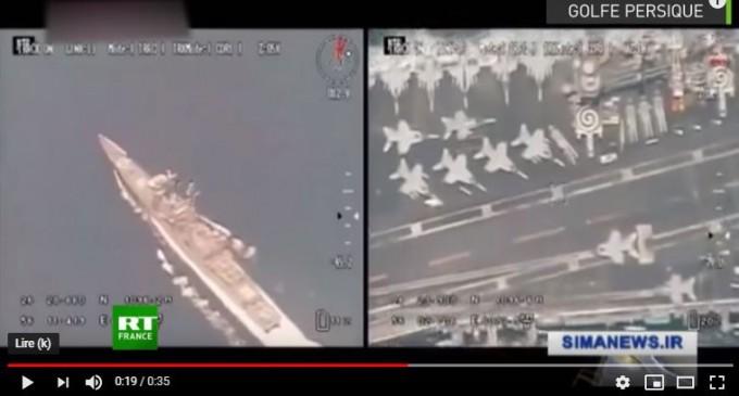 Vidéo]   Un drone iranien nargue un porte-avions américain dans le golfe Persique
