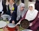 Iftar des sœurs courageuses et déterminées palestiniennes….sous l'œil rageux des soldats Pampers de tshaal