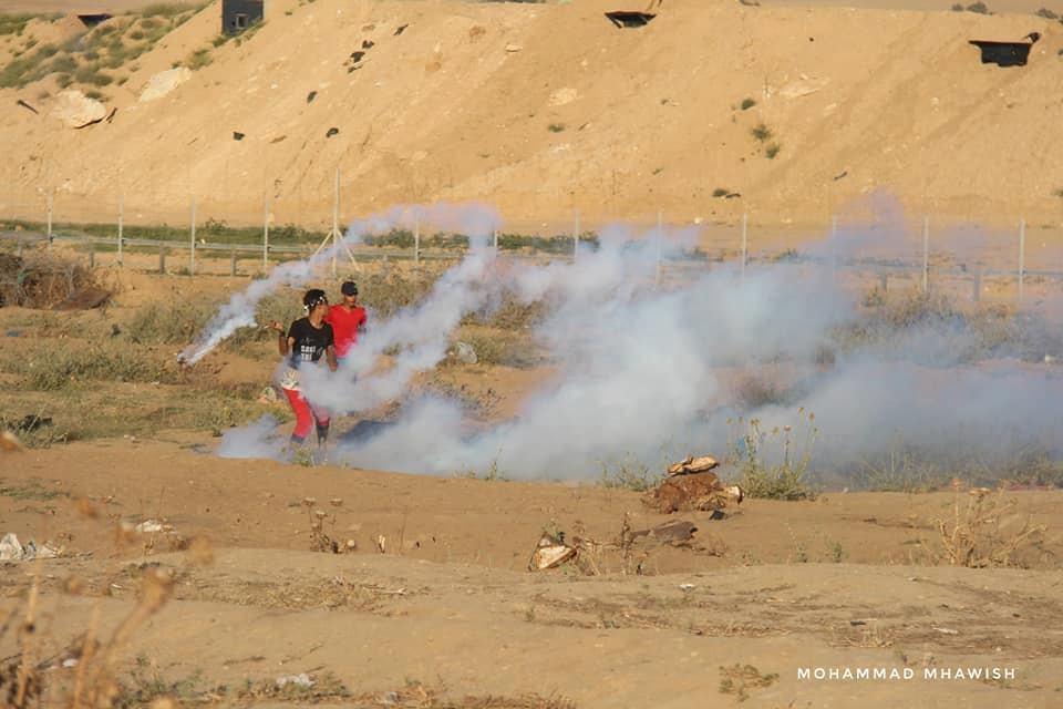 Scènes de la 58ème semaine de la Grande Marche du Retour sur les frontières de Gaza.
