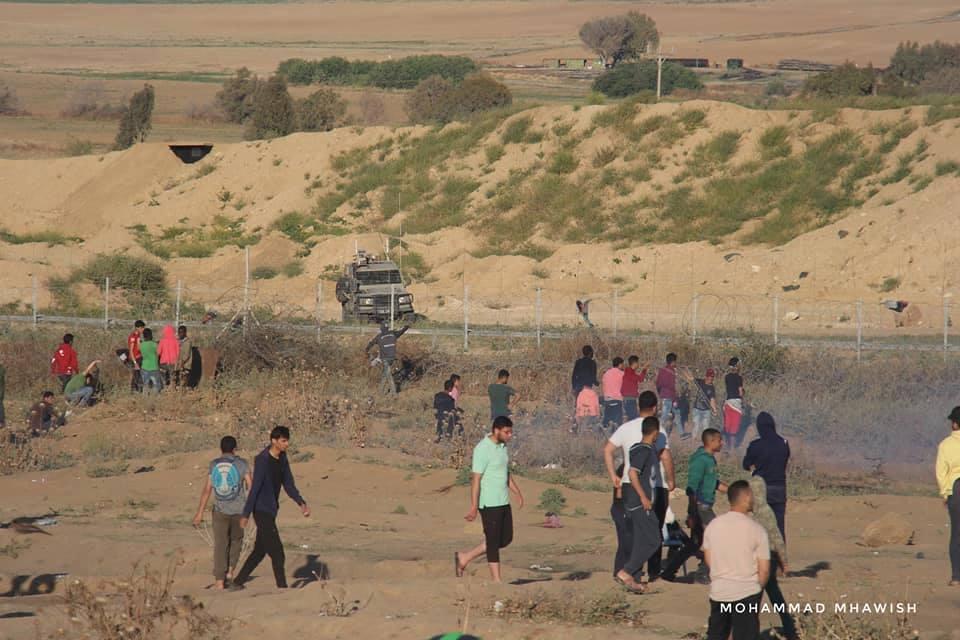 Scènes de la 58ème semaine de la Grande Marche du Retour sur les frontières de Gaza.1