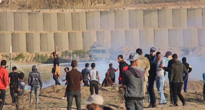 Scènes de la 58ème semaine de la Grande Marche du Retour sur les frontières de Gaza