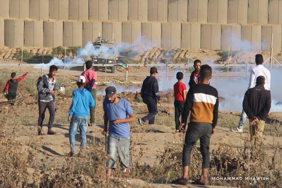 Scènes de la 58ème semaine de la Grande Marche du Retour sur les frontières de Gaza.3
