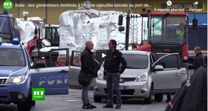 Italie : des générateurs destinés à l'Arabie saoudite laissés au port de Gênes