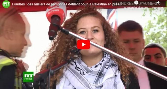 Londres : des milliers de personnes défilent pour la Palestine en présence d'Ahed Tamimi