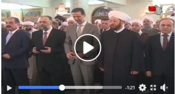 En vidéo : Le Président Al-Assad effectue la prière de l'Aïd Al-Fitr à la mosquée du Président Hafez Al-Assad à Damas
