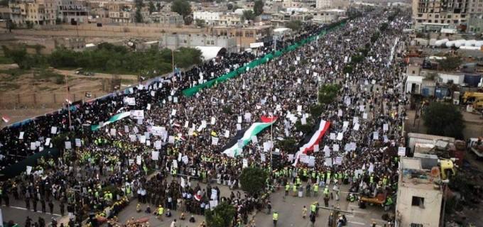 Malgré l'embargo, les bombardements, la famine, et les souffrances.. le peuple yéménite opprimé sort au secours de la Palestine à l'occasion de la Journée Mondiale de Qods
