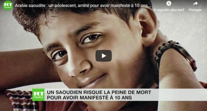 Arabie saoudite : un adolescent, arrêté pour avoir manifesté à 10 ans, risque la peine de mort