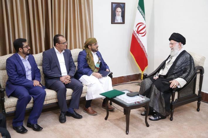 Rencontre du Guide suprême avec le porte-parole du Mouvement Ansarallah