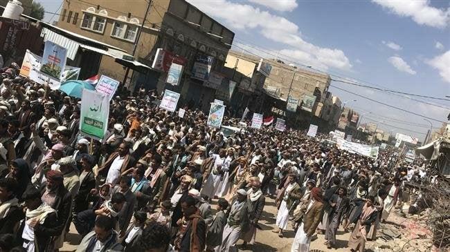 Les Yéménites manifestent leur soutien à la récente opération anti-saoudienne
