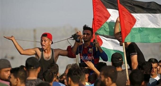 Les forces sionistes enragées attaquent des manifestants palestiniens à Gaza : 49 blessés !!!