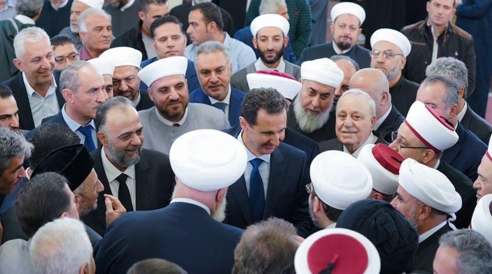 Le Président Bachar Al Assad a participé à la Célébration de la naissance du Saint Prophète Mohammed (P) à Damas2