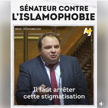 S1NATEUR CONTRE L'ISLAMOPHOBIE