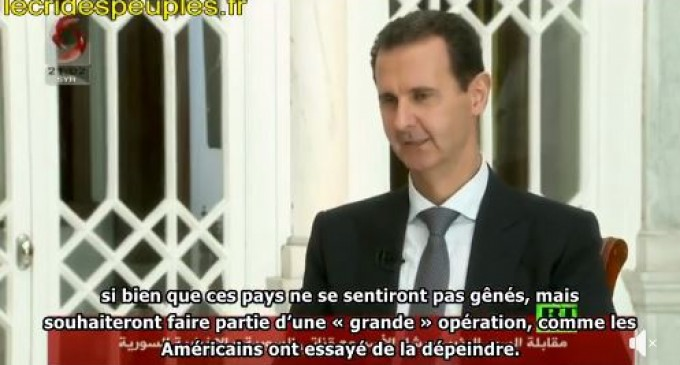 Bachar al-Assad : » l'élimination d'al-Baghdadi est aussi crédible qu'un film d'Hollywood «