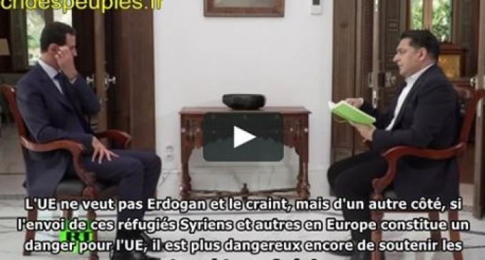 Bachar al-Assad : l'Europe devrait craindre les terroristes qu'elle soutient en Syrie, et non les réfugiés