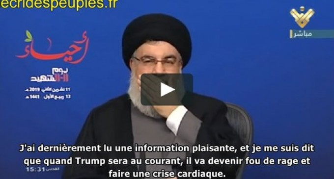 Nasrallah : l'Iran triomphe, Trump est au bord de la crise cardiaque