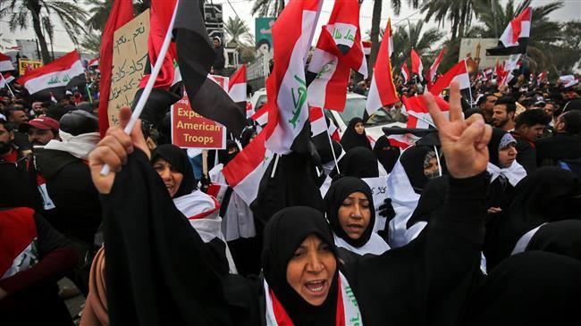 Des millions d'Irakiens défilent contre la présence américaine en Irak &