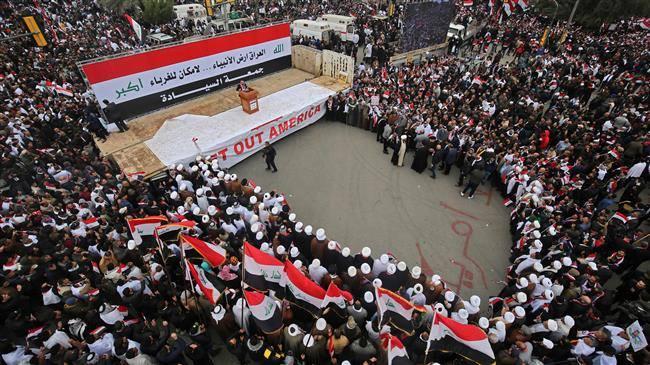 Des millions d'Irakiens défilent contre la présence américaine en Irak 4