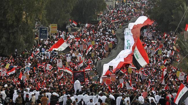 Des millions d'Irakiens défilent contre la présence américaine en Irak 6