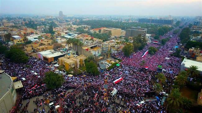 Des millions d'Irakiens défilent contre la présence américaine en Irak 8