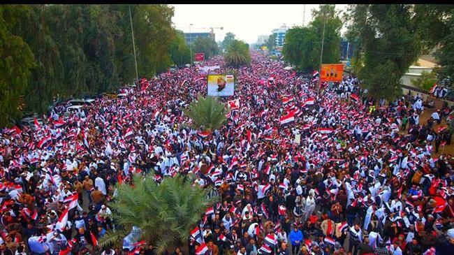 Des millions d'Irakiens défilent contre la présence américaine en Irak 9