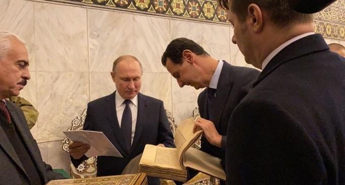 Le président Poutine arrive à Damas et rencontre le président Bachar Al-Assad