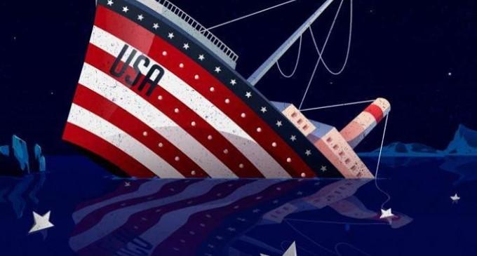 La gloire des États-Unis ne l'empêchera pas de sombrer