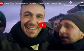 Vidéo : L'armée syrienne célèbre la reprise d'une zone stratégique dans la ville d'Alep
