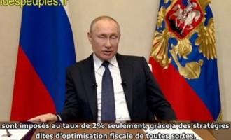 Coronavirus : pour financer les hausses de salaires et d'allocations, Poutine taxe les riches et leurs sociétés offshore