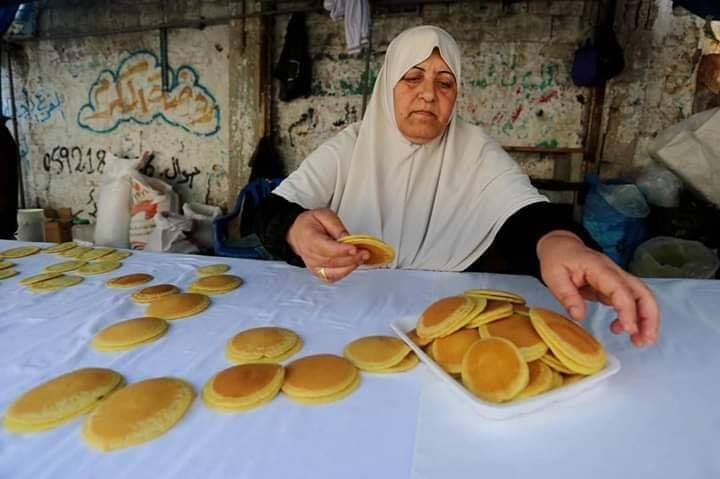 Voici Oum Eyad Salha, une palestinienne de 55 ans, de Deir El Balah dans la bande de Gaza