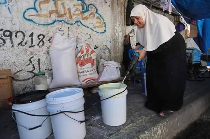 Voici Oum Eyad Salha, une palestinienne de 55 ans, de Deir El Balah dans la bande de Gaza5