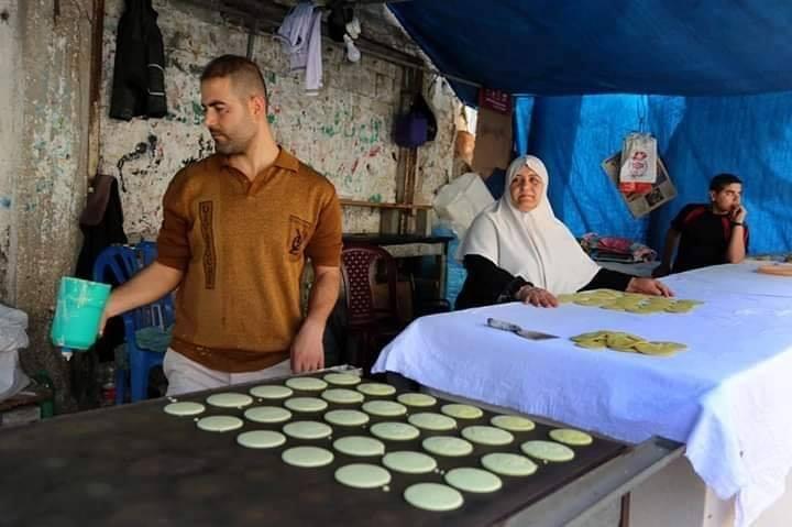 Voici Oum Eyad Salha, une palestinienne de 55 ans, de Deir El Balah dans la bande de Gaza7