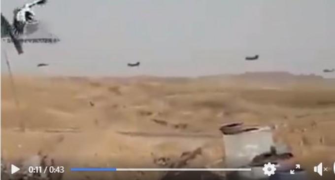 Vidéo : Des hélicoptères américains transfèrent des terroristes salafistes de Daesh de l'est de Syrie, vers l'Irak…