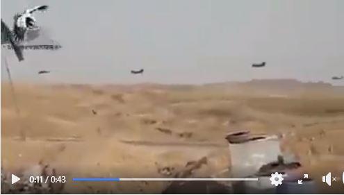 Des hélicoptères américains transfèrent des terroristes salafistes de Daesh de l'est de Syrie, vers l'Irak...