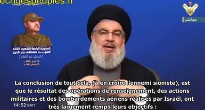 Nasrallah : la Syrie triomphe, Israël mène une guerre imaginaire