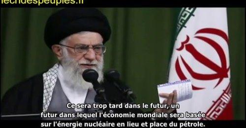 l'arme nucléaire est illicite en Islam, l'Occident craint un Iran développé et souverain