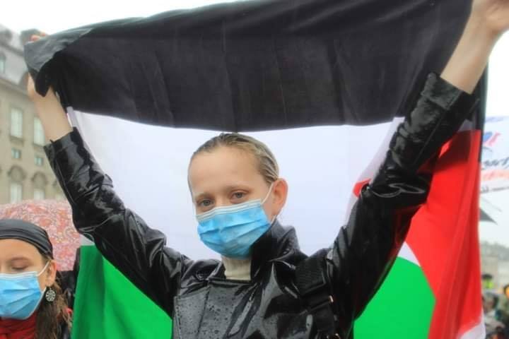 Les manifestants ont manifesté leur solidarité envers le peuple palestinien en chantant des slogans solidaires2