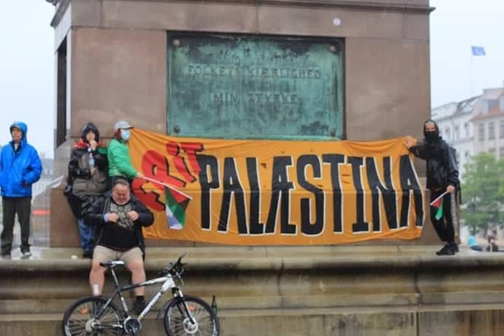 Les manifestants ont manifesté leur solidarité envers le peuple palestinien en chantant des slogans solidaires4