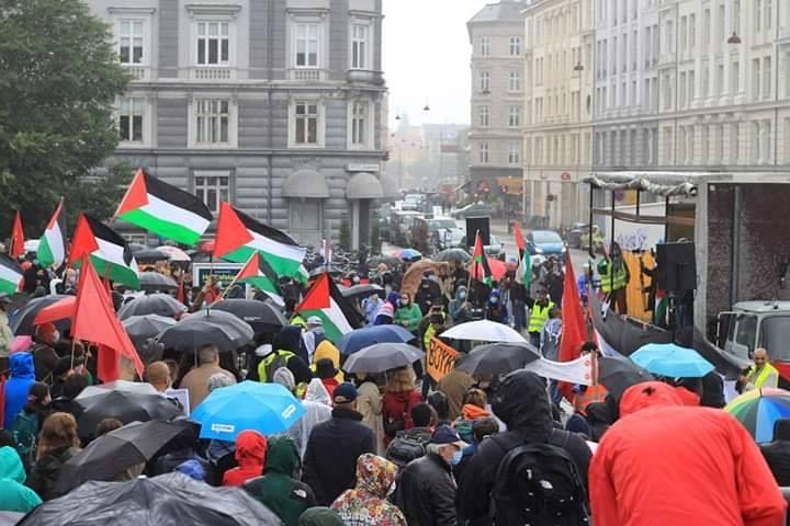 Les manifestants ont manifesté leur solidarité envers le peuple palestinien en chantant des slogans solidaires6