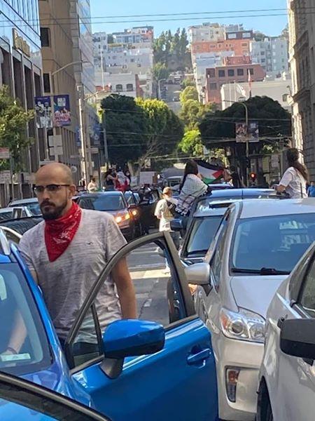 Les militants pro-Palestine ont bloqué la rue devant le consulat de l'occupation israélienne à San Francisco en protestation contre le plan d'annexion israélien, hier3