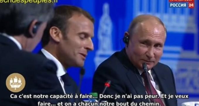 Poutine ridiculise Macron : « Face à Trump, vous vous écrasez comme des petits garçons »
