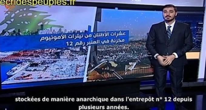 Vidéo : Comment 2 750 tonnes de nitrate d'ammonium ont été abandonnées 6 ans dans le port de Beyrouth Reportages d'Al-Mayadeen, chaîne TV libanaise, et de CNN, le 5 août 2020.