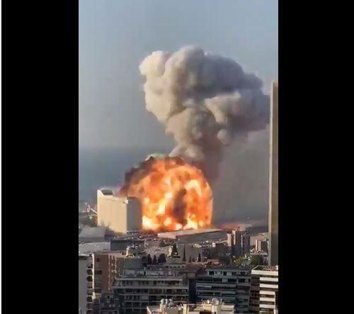 terrible explosion