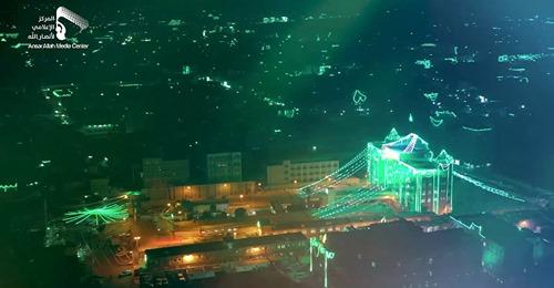 le peuple yéménVidéo ite et la ville de Sanaa habillée de vert se préparent à célébrer l'anniversaire de la naissance du Prophète (P