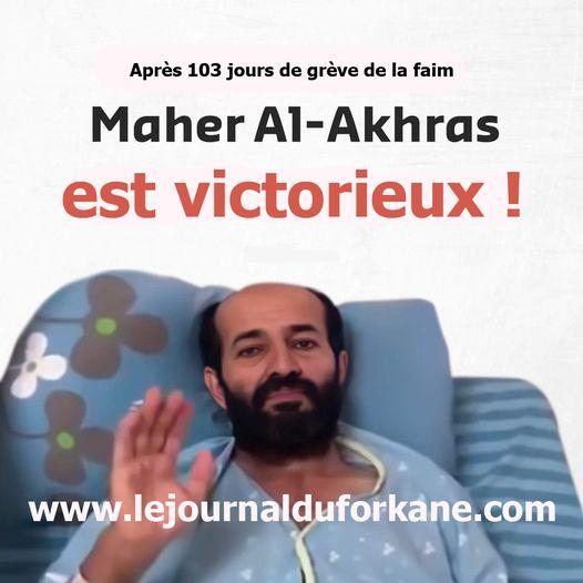 Après 103 jours de grève de la faim, le prisonnier palestinien Maher al-Akhras met fin à sa après avoir conclu un accord