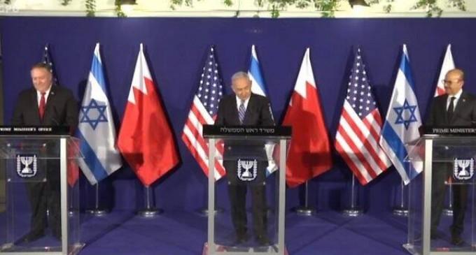 Netanyahu, Pompeo et le ministre des affaires étrangères du Bahreïn tiennent une réunion trilatérale à Jérusalem
