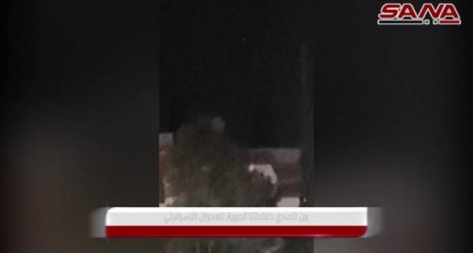VIDÉO : Images de défenses aériennes syriennes confrontées aux missiles du régime sioniste israélien