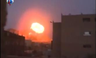 [ Vidéo ] Bombardement de la coalition arabe sur Sana'a et ses alentours