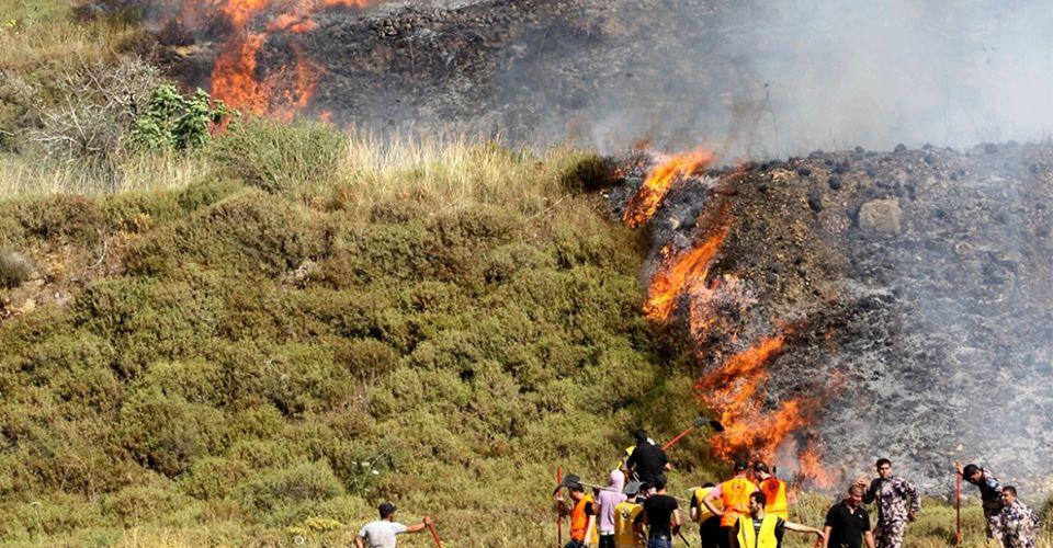 Des colons israéliens ont incendié des terres agricoles à Naplouse