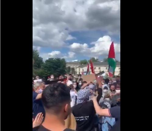 Les militants pro-Palestine ont manifesté en solidarité avec le peuple palestinien et contre les plans d'annexion israéliens.