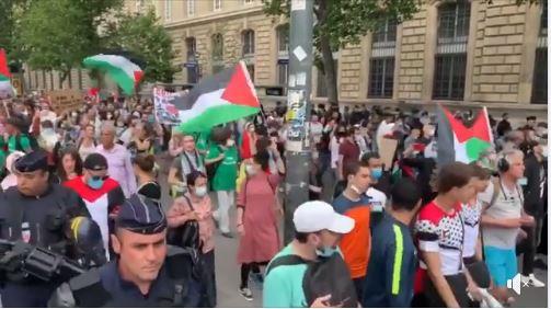Manifestations à Paris contre les plans d'annexion d'Israël